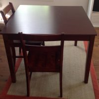 Dining table & 4 chairs $50