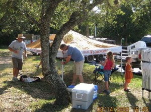 CCHOA BBQ - tent going up